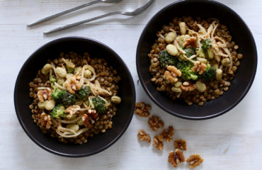 Vegan peanut butter vegetable stir fry