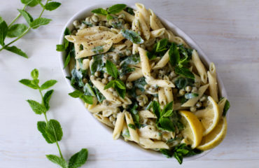 Green garden pasta salad