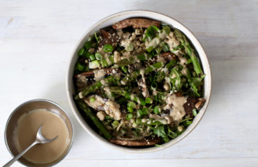 ASIAN INSPIRED SALAD WITH TAHINI DRESSING