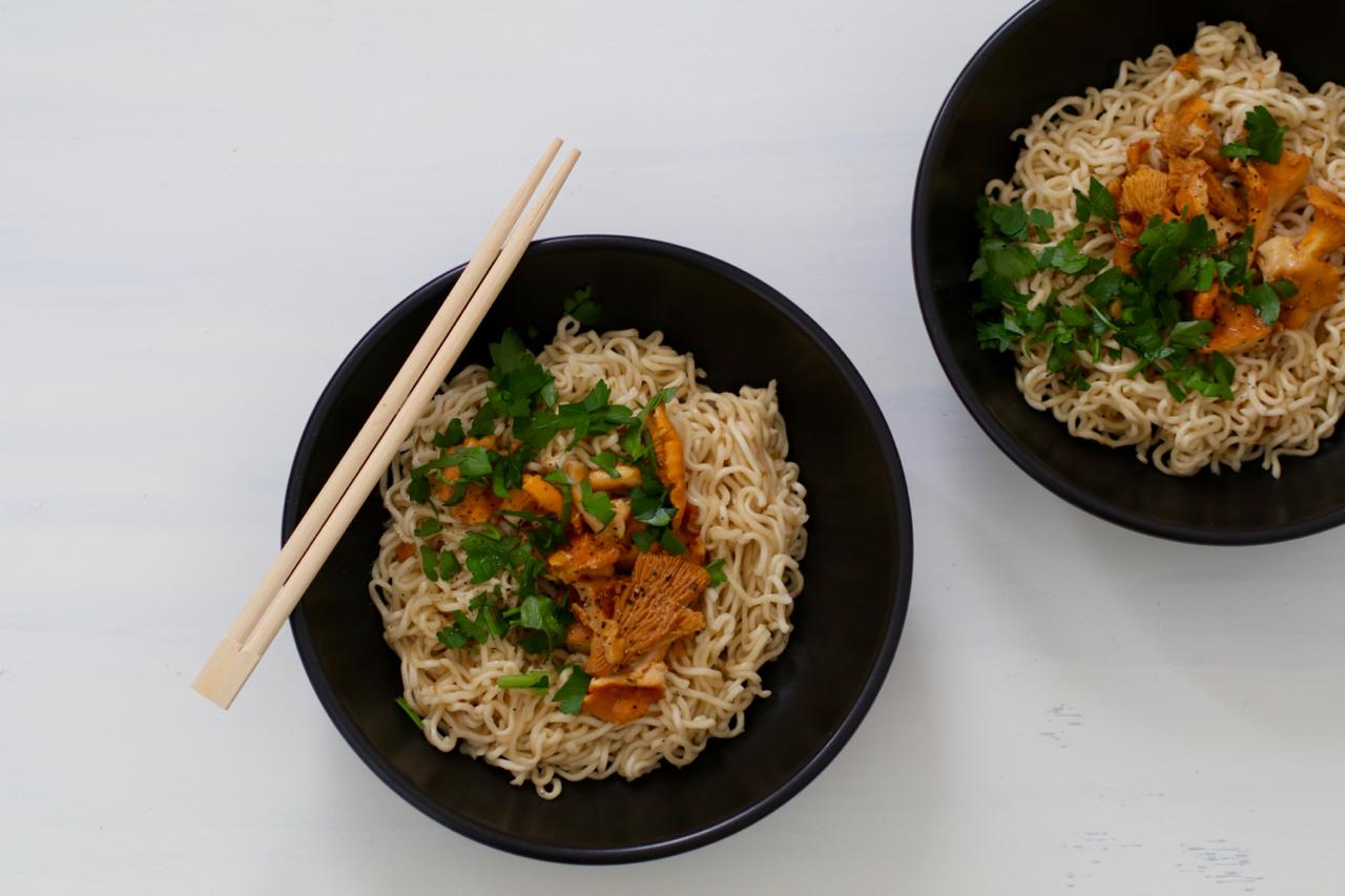 Chanterelle noodles
