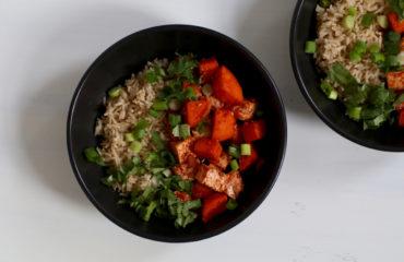 Curried sweet potato and tofu stir fry recipe
