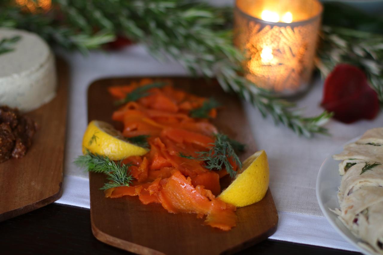 Carrot gravlax