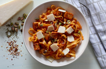 Pasta Arrabbiata with Tofu