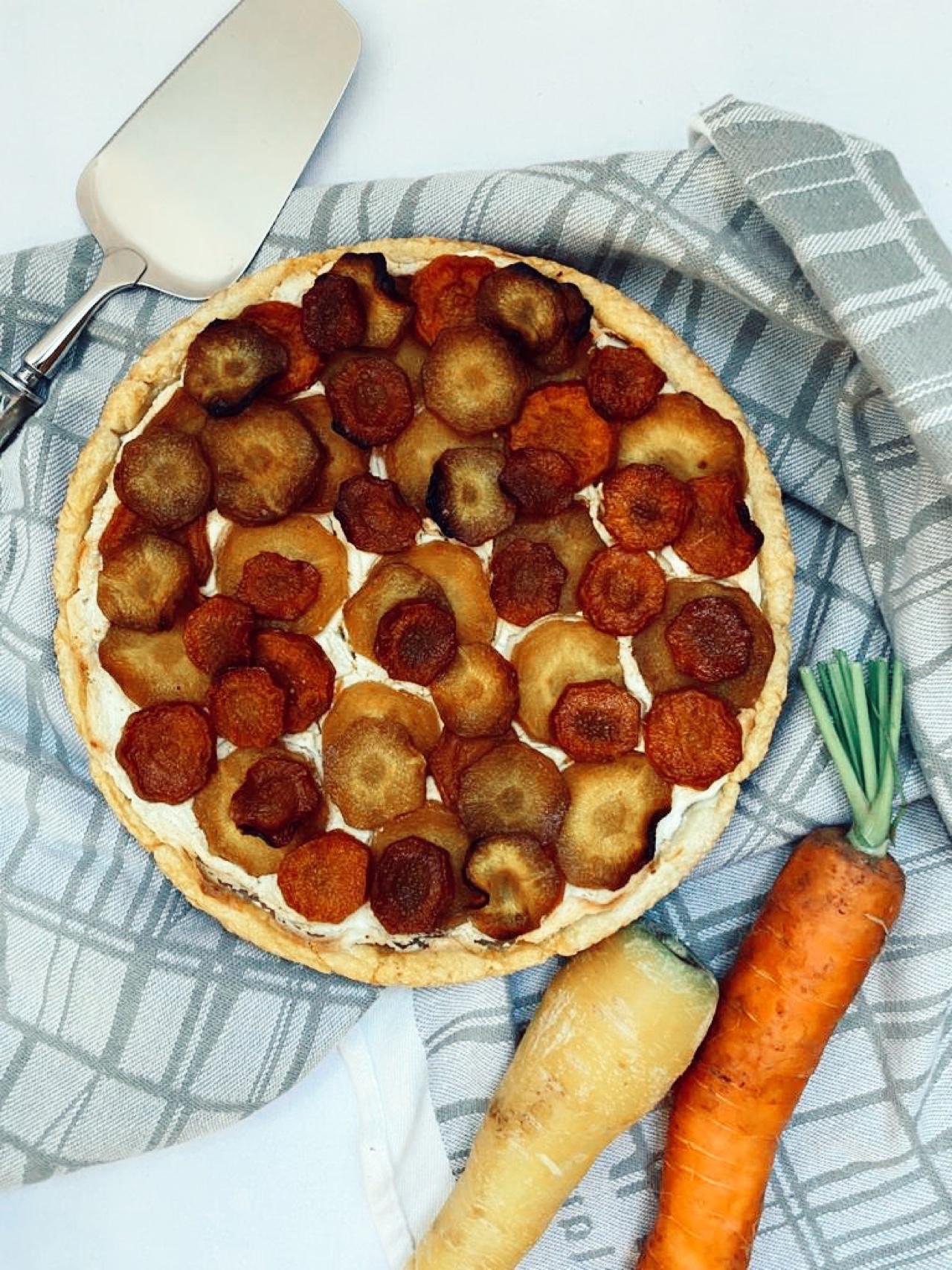 Carrot Feta Tart